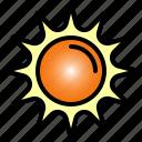 sun, sunlight, hot, yellow, summer, orange, sunset