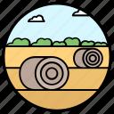 agriculture hay, farm, hay bales, haystack, straw bales icon