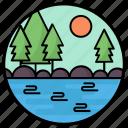 land sea, landscape, nature, ocean, seaside, seaview icon