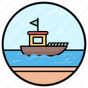 electronic boat, motorboat, summer boat, water sports, water transport icon