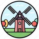 farm energy, natural energy, renewable energy, turbine, wind energy, windmill icon