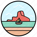 beach fun, canoeing, rafting, summer boat, summer fun, water sports icon