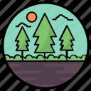 agriculture, farm fields, farming, fields, forest, forestland icon
