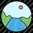 lake, ocean, river, seaside, seaview icon