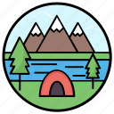 camp, camping, canopy, chalet, hut, marquee, tent icon