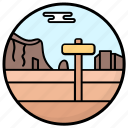 hill station, landscape, mountain direction, mountains, rocks icon