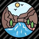 lake, natural lake, ocean, river, seaside, seaview icon