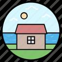 barn house, brach house, country house, countryside, farmhouse icon
