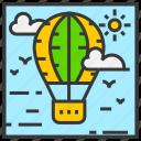 air balloon, field, landscape, mountain, nature, outdoor, park