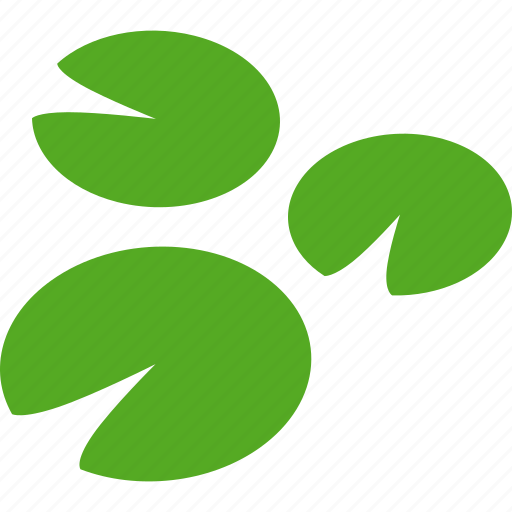 Green, lilies, lily, pad, pads, three, water icon - Download on Iconfinder