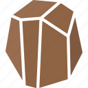 boulder, earth, hard, mineral, ore, rock, stone icon