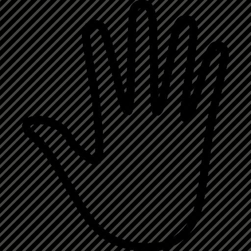 fingers, hand, human, palm, prehensile, print icon