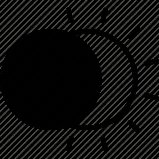 block, eclipse, moon, partial, solar, sun, total icon