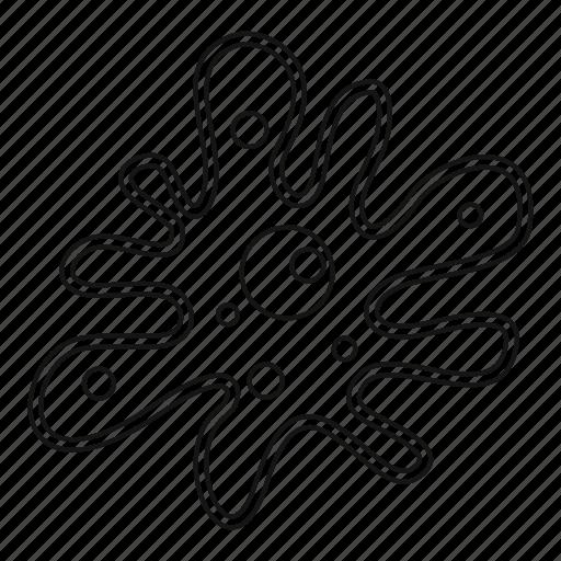 amoeba, bacillus, line, logo, micro, microorganism, outline icon