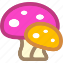 mushroom, nature, plant icon