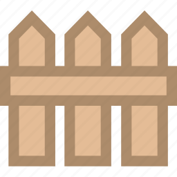 farm, fence, manor icon