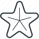 fingerfish, fish, sea life, sea star, starfish icon