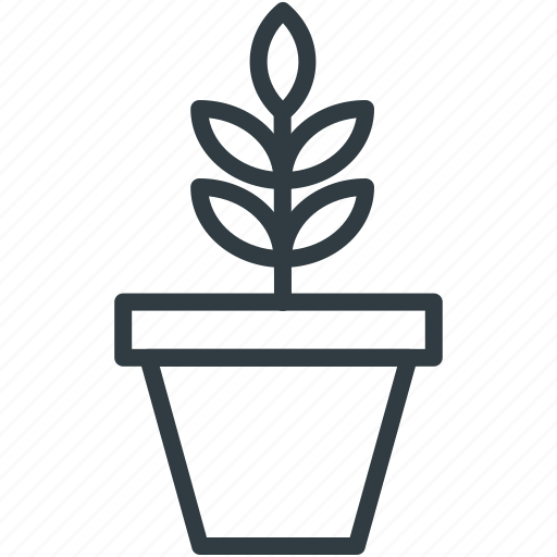 nature, nature inspiration, plant, pot plant, small plant icon