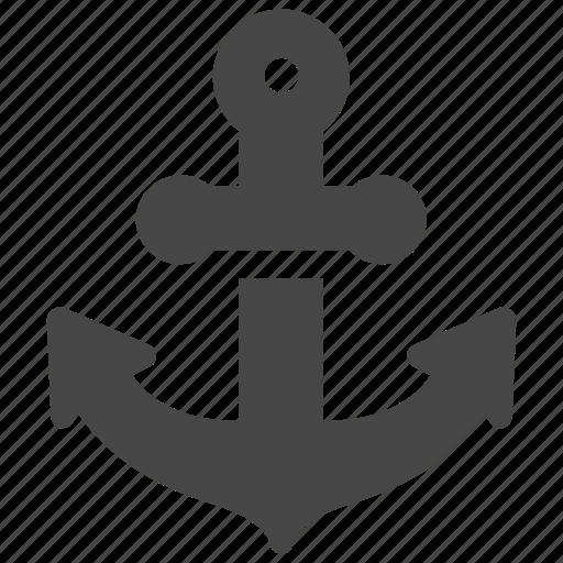 Marine, anchor, nautical icon