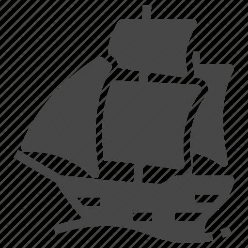 argosy, sailfish, ship icon
