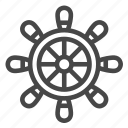 boat, nautical, steering wheel, wheel icon