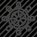boat, nautical, steering wheel, wheel icon