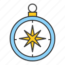 compass, direction, location, map, nautical icon