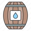 barrel, nautical, water, water barrel icon