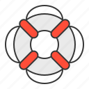 life ring, nautical, safety, swim, swim ring icon