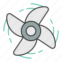blade, nautical, paddle, propeller icon