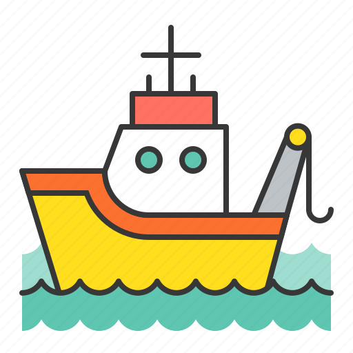 Download Fishing Boat Nautical Sea Ship Icon Download On Iconfinder