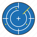 detect, direction, location, nautical, radar icon