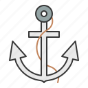anchor, nautical, stop icon