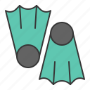 dive, fins, nautical, swim icon
