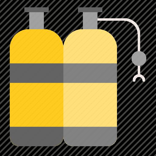 dive, oxygen, oxygen tank, sea, tool icon