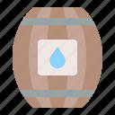barrel, sea, water, water barrel