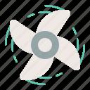 nautical, propeller, sea, spin icon