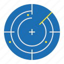 detect, direction, location, nautical, radar, sea icon