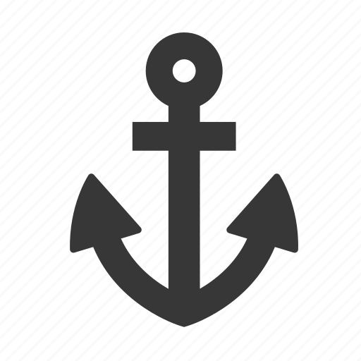 anchor, marine, maritime, nautical, raw, ship, shipping, simple icon