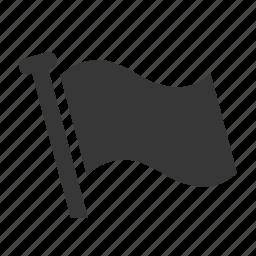 flag, marine, maritime, nautical, raw, shipping, simple icon