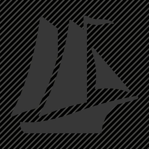 marine, maritime, nautical, nautical vessel, raw, sail boat, sailboat, sailing, ship, shipping, simple icon
