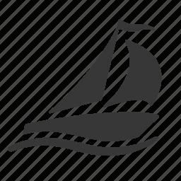 marine, maritime, nautical, raw, sail boat, sailboat, sailing, ship, shipping, simple icon