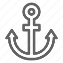 anchor, marine, nautical, ship