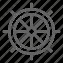helm, rudder, ship, wheel icon