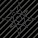 compass, north star, sea, star icon