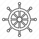 control, helm, nautical, sea, steering wheel icon