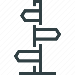 index, navigation, road icon