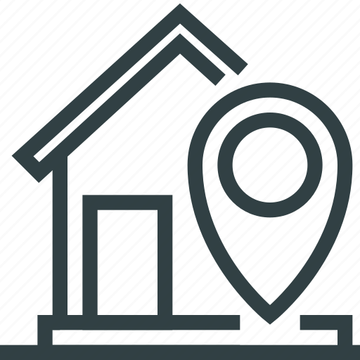 house, navigation, pointer icon