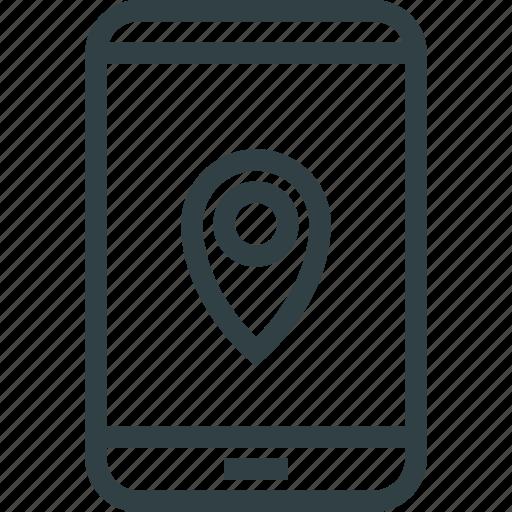 gps, navigation, phone, smartphone icon