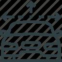 arrows, car, direction, navigation icon